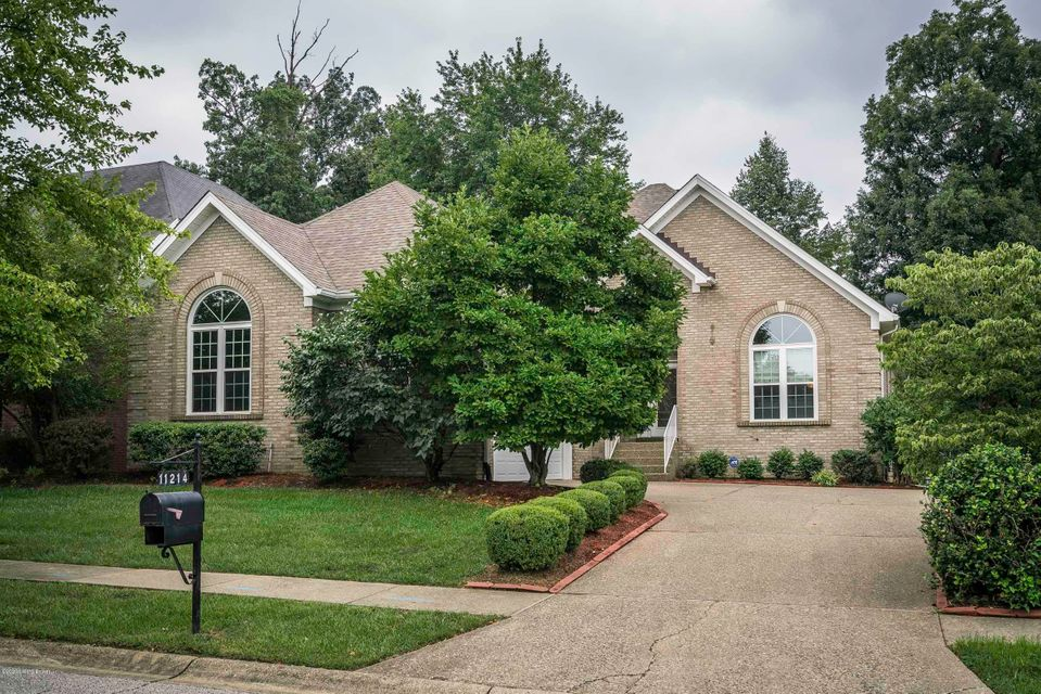 Welcome home to 11214 Vista Greens Drive in Indian Springs! This impressive brick, ranch home features a spacious open floor plan, a walk-out finished basement, a beautiful backyard with green space including walking paths, and an attached 2 car garage.