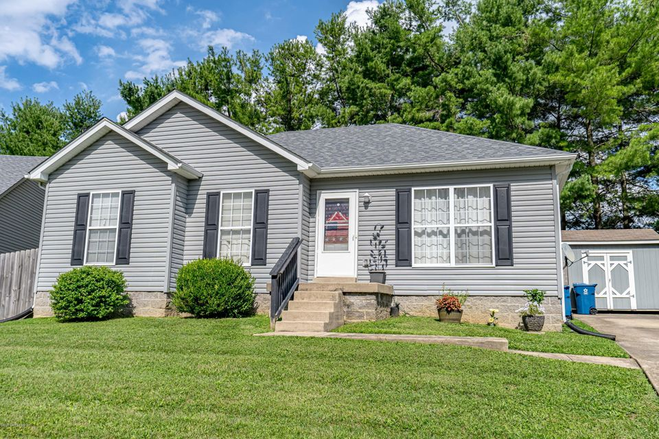 Welcome home to 1509 Cedar Ct in Simpsonville KY. This home features 3 bedrooms, 2 bathrooms, newer HVAC and hot water heater, along with only a 1 year old roof. This home is located just a half mile from I-64, restaurants, and Shops of the Bluegrass Outlet. This beautiful ranch has been meticulously cared for. Inside the home you will be greeted with ample natural lighting and a spacious living room that leads to the oversized kitchen area. In the kitchen you will notice the private, fully fenced backyard. The guest bedrooms are complete with spacious closets and the master boasts an en suite full bathroom and walk-in closet. There is a storage shed out back along with additional storage space in the attic. Schedule your showing before it is gone.
