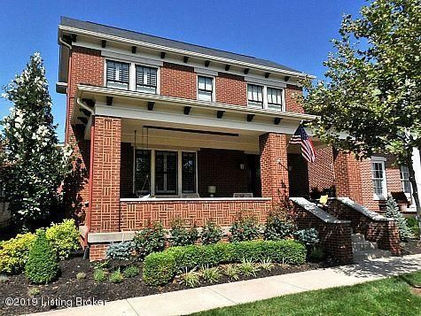 This former Homearama home is centrally and ideally located in the South Village of Norton Commons . Close to all of the extraordinary amenities; parks, shops, restaurants, Dr.'s Offices and concerts. The oversized covered front porch with solid mahogany door overlooks a view of the fountain and beautiful green space. This all brick approximately...