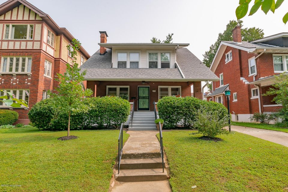 True Highlands appeal w/wide trim, wood floors, fireplace & bookshelves. 4 BD/2.5 BA home on Blvd. Napoleon, one of Louisville's most popular streets. A bed & full bath on 1st floor! Upper bed has a bonus/craft room too! Sunny kitchen w/granite, stainless appliances & lots of storage connects to a huge dining room.  Stroll to locally owned restaurants @ Douglass Loop. Socially distance on the porch w/neighbors & friends.  Off street parking: this home has the only driveway on the block! Nature lovers appreciate that the house is 1 mile from Cherokee Park. Gardeners & pet owners like the fenced yard w/refinished deck. Updates:Full bath 2nd floor & new 1/2 bath in the open, waterproofed basement w/new carpet. Refinished floors in 2 bedrooms, new ceiling fans, duct sealing=energy efficiency.