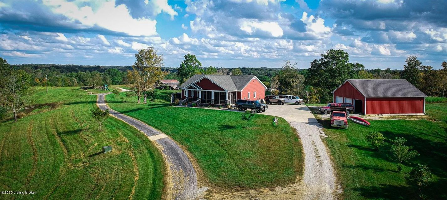 An exquisite, custom built home on 172+/- rolling acres of beautiful western Anderson County! Centrally located between the two major metro cities of Louisville and Lexington and only minutes from Taylorsville Lake. If you are looking for tranquility, peace, quiet, modern day homesteading and getting away from the chaos, then call today to...