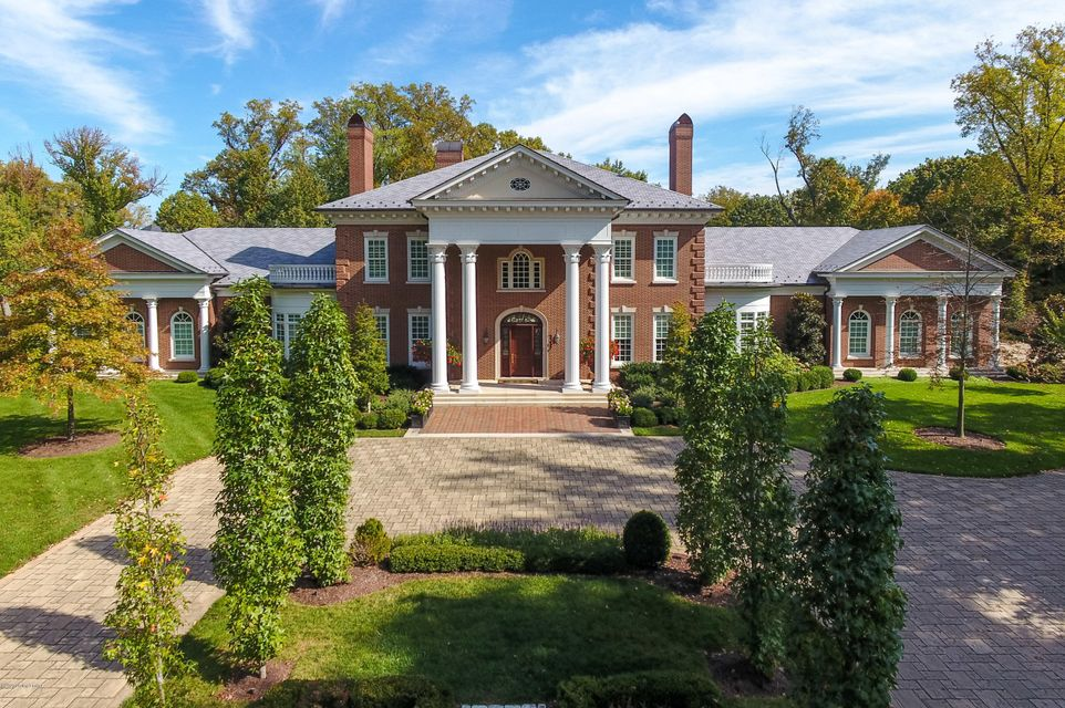 Classical, timeless Georgian elegance in Louisville's most prestigious enclave. Situated on 3.47 tree canopied acres to create one of the area's rarest offerings. This custom built estate with an open and modern floor plan, offers amenities including a pool, wine vault, cigar humidor, golf and game simulator, movie screening room securities...