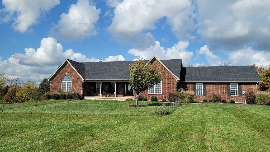 Home is located on 39.9 acres bordering Henry County Country Club. Approximately 3600 sq ft. Oversized garage, 24x54 pole barn, approximately 2.5 acre well stocked pond. 4 bedrooms 3 full baths and large office. Finished walkout basement with wet bar.