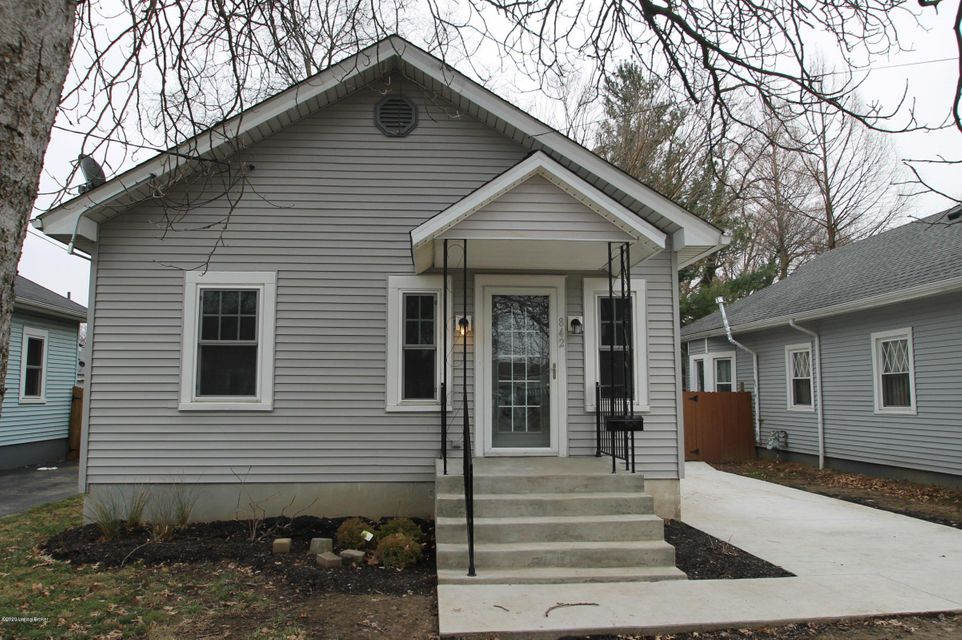 Cute! All redone with a new kitchen and full bath with easy care flooring throughout. New addition off back makes a cozy den or dining area. Finished room in basement would be a perfect office! Washer Dryer included.  Privacy fenced rear yard, may consider a dog depending on breed, no cats.  High Efficiency furnace, central air, insulated vinyl siding and triple paned windows make for very reasonable LGE bills!  New concrete driveway. Close to bus line. No smokers, credit and background checks required.  Deposit equal to rent, due upon signing. Tenant maintains the yard and pays all utilities.