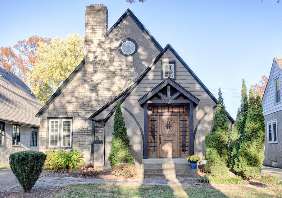 Located on the 500 block of Wendover in the heart of St. Matthews well known for its architecturally unique homes, this lovely English Tudor home has been meticulously renovated and taken care of. As you enter the home through the custom front door you will be impressed with the 18 foot ceilings in the living room and the exposed stairs to...