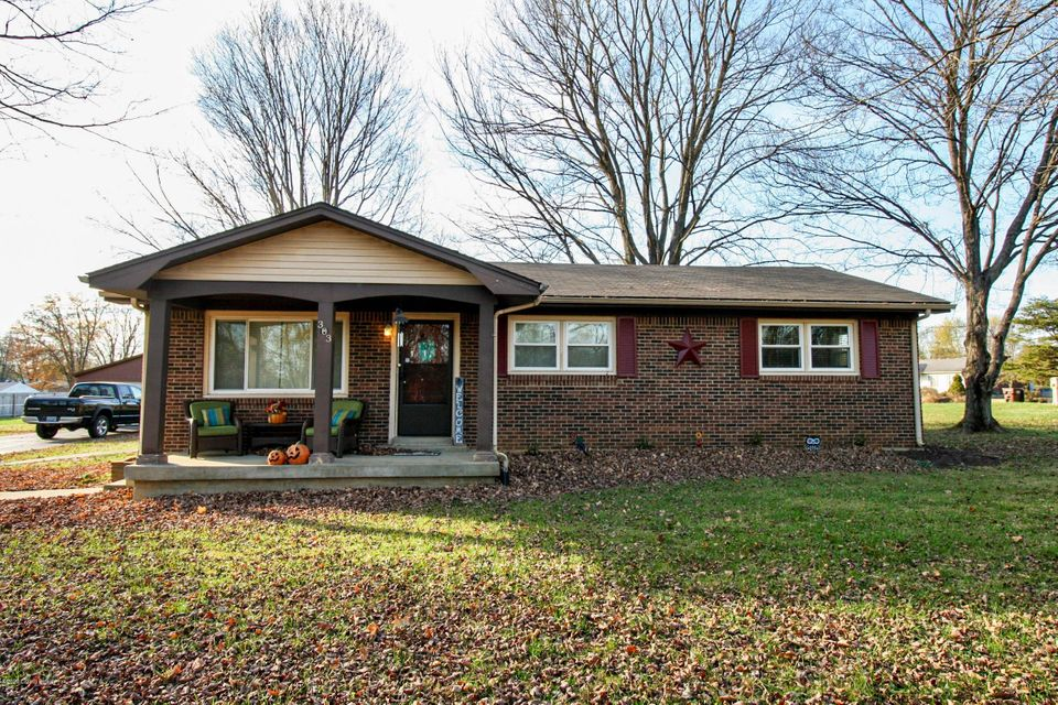 WOW!! This home sits on 2 lots and is tucked away but with great ease to everything! There is so much that has been updated too~~HVAC~~Bath remodel~~Windows~~This 3 bedroom, 1 bath ADORABLE home also has a detached garage~~The kitchen has an eat in area, an extra countertop, quick access to the laundry and outside too~~speaking of outside the yard and the space there is not easily found! Call today!