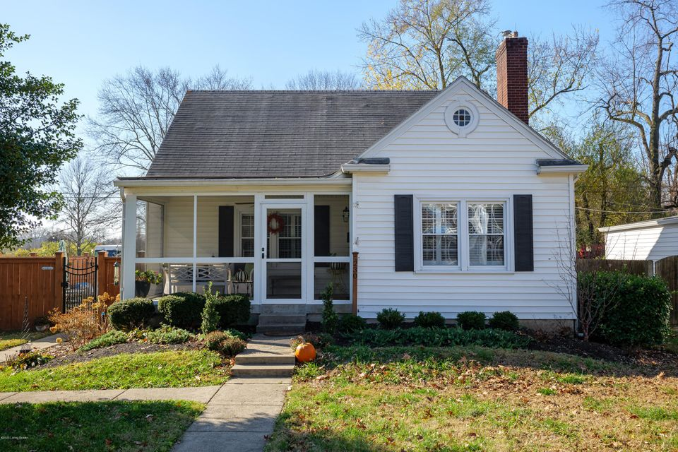 Welcome home to this fabulous, fully renovated Cape Cod in Saint Matthews! Situated on a large corner lot, this beautiful house is move-in ready. The welcoming screened-in porch is the perfect spot to enjoy your morning coffee. Step inside to the spacious living room with hardwood floors, custom bookcases and an inviting fireplace! The dining...