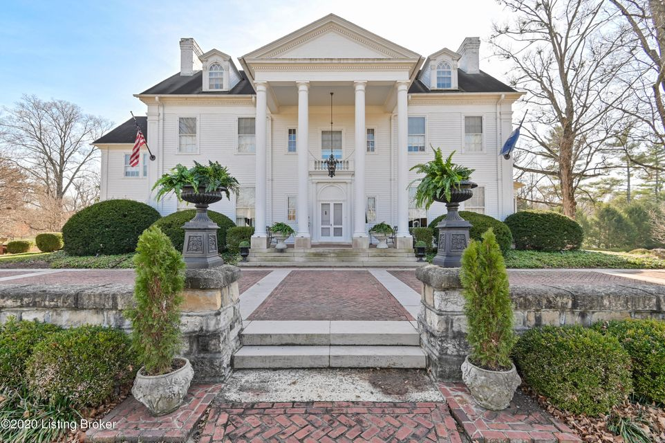 The massive Doric columns, thirty-foot imported Belgium fountain and circular limestone and brick driveway create a fitting entrance to this Colonial Revival mansion. It was originally built as a Summer home in Anchorage by John Bayless in 1869 and then transformed and expanded to its' current grandeur in 1929 by the second owner, Charles Ross, with the assistance of architect, Frederick Morgan. The current owner purchased ''Bellewood'' 15 years ago and brought it into the 21st century, carefully restoring all the outstanding elements of this historic home while making the needed updates and changes desired by today's families.  You'll find 14' ceilings, random width hardwood floors, extensive crown molding, 5 fireplaces and fine architectural detail throughout. The welcoming grand foyer
