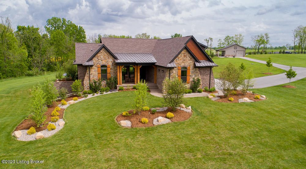 This custom-built ranch on 6.02 acres with a finished-out barn designed for an office, mother-in-law, or potential pool house was just completed in 2018 and built with the finest of design and detail to complement its majestic surroundings of more than 900 rolling acres, lakes, and panorama views within the prestigious horse community of Equestrian...