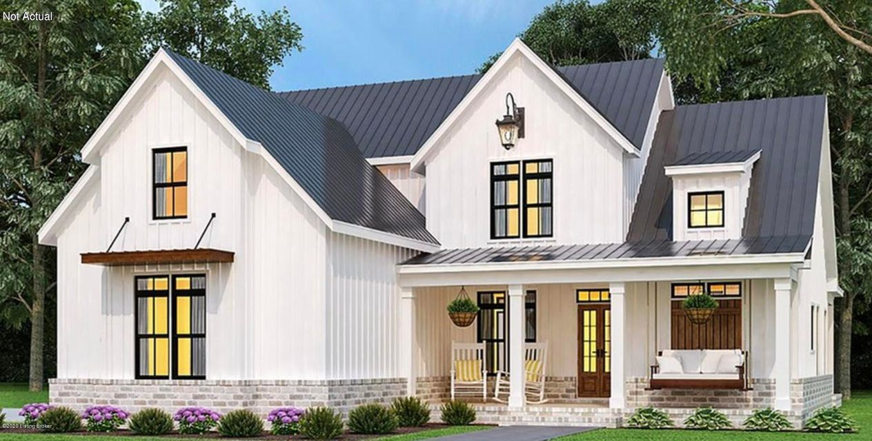 This farmhouse style custom built home is a proposed build with an estimated completion date of August 2021, just in time for the 2021-22 Oldham County school year.The price of this home includes up to 10 hours with an award winning interior designer to help the new homeowners through the entire selection process.This home features an open, farmhouse feel with high end finishes including custom cabinets, hardwood floors throughout the first floor, composite decking on the huge covered back deck, and more!  Call today to schedule time with the builder to discuss the details of this home and the building process.*Builder is a licensed real estate broker in Kentucky.
