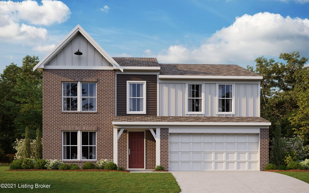 New construction by Fischer Homes in beautiful Hubbards Landing featuring the Yosemite American Classic floorplan. This open plan welcomes you, from the formal living room to the island kitchen with walk-in pantry, granite countertops and upgraded cabinetry, to the walk-out morning room and family room. Owner's suite with WIC and en suite with double-bowl vanity, shower and tub. 3 add'l bedrooms. Walk-out basement. 2 car garage.