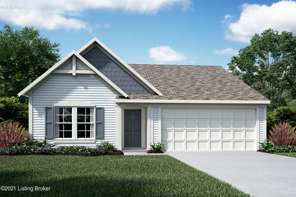 New construction by Fischer Homes in beautiful Hubbards Landing featuring the Beacon Cambridge Cottage floorplan. Island kitchen with pantry, black appliances, and laminate countertops open to the walk-out morning room and family room. Private study. Primary bedroom with WIC and en suite. 2 car garage.
