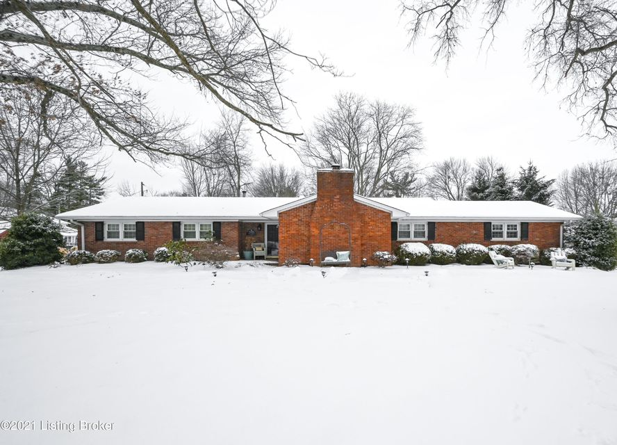 With Spring just around the corner, it's the perfect time to own this updated, brick ranch located on 0.73 acres in the highly sought after Anchorage School District! The large corner lot is adjacent to a cul de sac and sits quietly in Anchor Estates. The neighborhood is serene with mature trees and offers a feeling of living out in the KY...