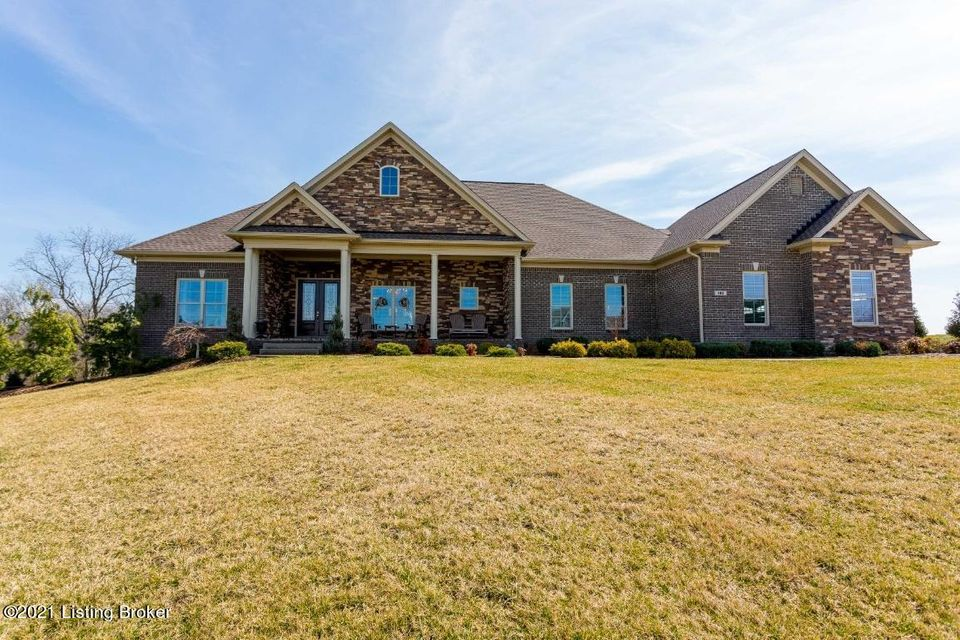 Absolutely stunning brick and stone ranch with walkout on 5 acres in the spacious neighborhood of Bellefonte Estates.   The driveway from the court passes a fully-stocked pond and leads to the entry walkway, gracious front porch and leaded glass front doors.  The incredible open floor plan of the great room and adjacent kitchen provides an...