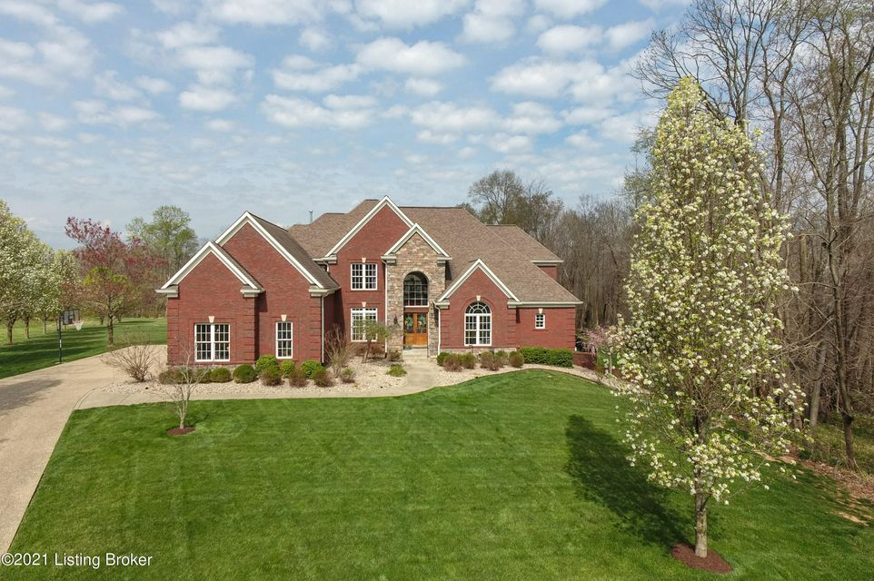 This gorgeous custom built home sits beautifully on a private 4.29 acre lot offering over 5,500 square feet of living space plus an outdoor oasis with heated inground pool. NORTH OLDHAM SCHOOL DISTRICT. The home features 5 bedrooms, 4.5 baths including a first floor primary suite. The main living space includes a large great room with a grand...