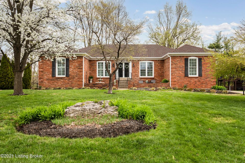 A beautiful, lovingly cared for ranch in sought after Indian Hills.  Step into the lovely tiled foyer which leads into a formal living room with hardwood flooring . The dining room is perfect for formal dinner parties or casual entertaining.  The eat in kitchen with brand new appliances features ample storage space and great views of the back deck. The family room boasts a spectacular stone fireplace and vaulted ceiling.  Down the hall you will find a roomy primary bedroom with ensuite bath.  Three additional spacious bedrooms and a full bath are also on the first level. The finished basement includes a large lower level family room/potential theatre room with space for a workout area. There is also a huge lower level bath and bedroom.