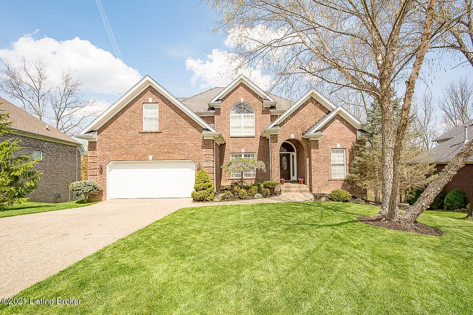 Plenty of space in this 5 bedroom, 3.5 bath OPEN PLAN walkout in Polo Fields-close to the conveniences of Middletown & The Parklands with the Louisville Loop, trails, playgrounds, & dog park! This home sits on a private lot with both an upper level deck & lower level patio overlooking the fenced yard with wooded views. Hardwood floors greet...