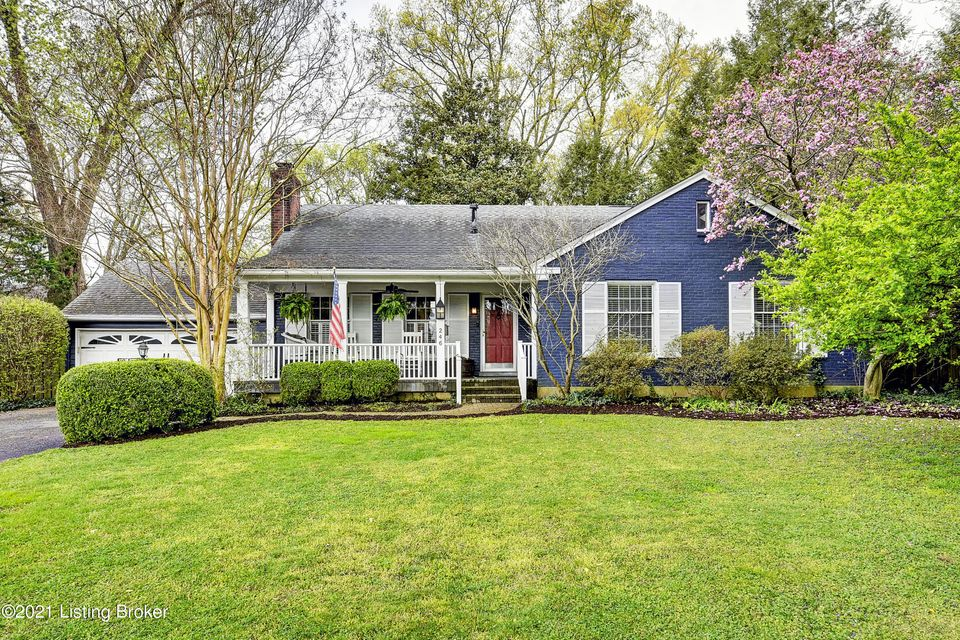 Welcome to 246 Saint Matthews Avenue! This spacious Cape Cod is set back on a corner lot in Bellewood and is impeccably decorated in Southern Coastal style. Large living room with built-ins and fireplace opens to a gracious formal dining room. Updated kitchen with large center island, vaulted ceiling with skylights and fireplace. Also on the first floor, office with built ins, primary suite, second bedroom and full bathroom with stackable washer/dryer hook up. Upstairs two more nice sized bedrooms, full bathroom and a charming child size playroom. The finished basement goes on forever, offering two family room/game areas, full bathroom and laundry. Private backyard has a large deck, fire pit and koi pond.