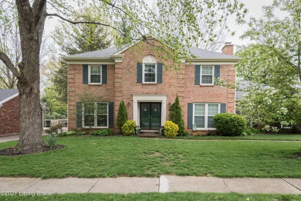 This 4 BR/2.5 BA home is located in one of Louisville's finest areas. Conveniently located near shopping and the expressway. You are minutes away from anywhere you want to go. Upon entering this beautiful home you immediately notice the pride of ownership. Enjoy entertaining with a large living room and dining room plus a great den with a fireplace and wet bar. The floor plan allows for a good flow to move around. The updated eat-in kitchen includes beautiful cabinetry and ample counterspace. All stainless steel appliances including a gas stove caps off this gorgeous kitchen. End each day in the sanctuary of your primary owners suite. The updated primary bath includes a large shower with glass doors. A large walk-in closet is also included.  Three nice size bedrooms with two closets each