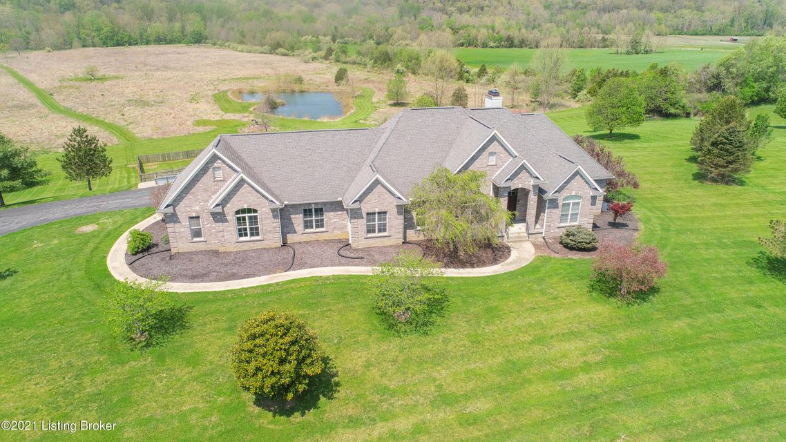 Beautiful custom executive home with over 40 acres conveniently located in Jeffersontown, , previously owner used this magnificent property for their horses. Wildlife is in abundance including, deer, peacocks, etc as the property extends to Floyds Fork. This walk out ranch has close to 5000 square feet of living area. Finished walk out to...