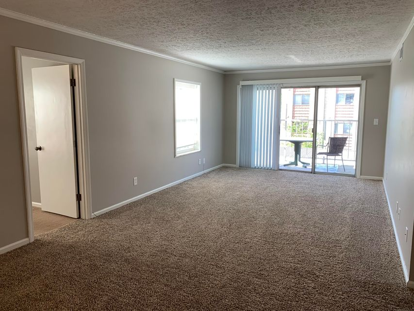 This updated two bedroom condo is located in Diplomat Arms Condominiums in the heart of St. Matthews. It is walking distance to Walmart, Target and plenty of shops and restaurants! Located on the third floor of the building it offers a spacious living area that leads to your private balcony. The kitchen has been updated and all appliances are provided. The primary bedroom is spacious and provides plenty of closet space. There is tons of closet space throughout this unit including a bar area. Bathroom has been updated with next fixtures and vanity. The second bedroom is smaller and would be a great office. It provides built ins as well as two closets. The building is secured and there is laundry facility in the basement. Off street parking is provided. Water, trash and gas are included.