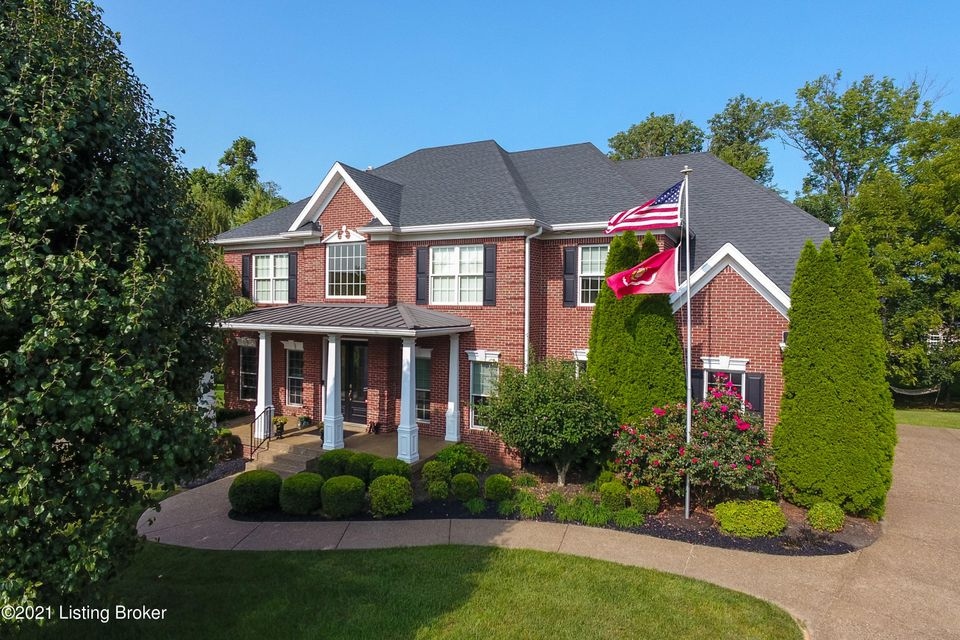 This all brick Executive 2 story home in the popular Polo Fields will impress you with its stature starting with the lovely columned covered front porch and professionally landscaped yard. This elegant home has many desirable features that will impress even the most discerning buyer. The home has a  striking presence and many upgrades including...