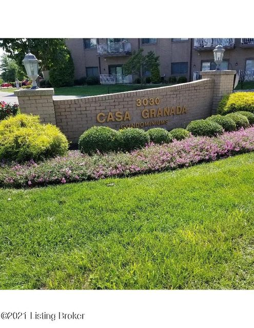 Welcome to Casa Granada Bldg One Unit 407 on the 4th floor.  Updated kitchen.  Both Bathrooms have replacement tile.  Newer sliding glass door in large Living Room and bedroom windows.  Lovely Dining Room with chandelier.  You'll find 3 double closets as well as a walk-in closet in Primary Bedroom.  The home includes a covered parking space #44. There is an elevator.  Common areas include Lobby sitting area, entertainment room, library, billiards room, exercise room and swimming pool.   You'll enjoy beautiful views of the courtyard from your balcony.  Located close to shopping and restaurants. Come see how condo living might be for you!