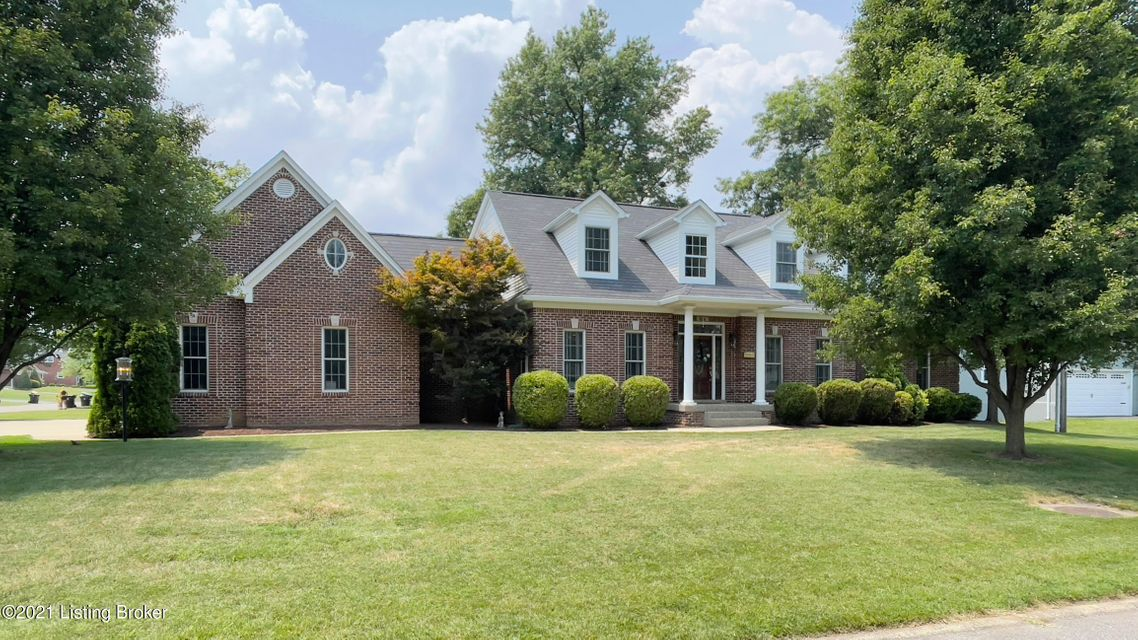 ~ RARE FIND IN THIS AREA! ~ Fantastic custom built 4 BR 4.5 BA brick home with over 6,300 sq ft of total living area (4361 above grade and 2000 below grade)!  The home offers a 3 car attached garage, 9 ft ceilings throughout the first floor and  basement, 3 fireplaces, 1st floor primary bedroom suite with a steam shower, a 1st floor laundry/mud room with built in lockers, a huge bonus room above the garage that is perfect for a home office, a beautiful eat in kitchen with granite counters, GE Profile appliances, & double ovens, and great size bedrooms most with walk in closets.  Basement has 9ft ceilings, a custom bar and a huge family gathering space.  Other features include 2 yr old roof, spray foam insulation, central vac system, irrigation system, large mouldings and hardwood flooring.