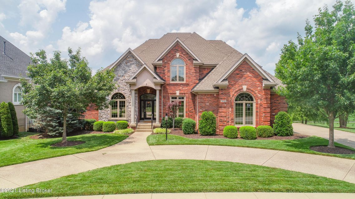 Shows like new. Incredible water views and location on the golf course.Walkout with true 6 bedrooms. 4 1/2 baths. First floor primary bedroom suite with tons of molding , office, Deck, screened in porch and patio. Soaring ceilings with beautiful deep trim everywhere.  Hardwood flooring looks new, to die for kitchen. Very light and bright on...