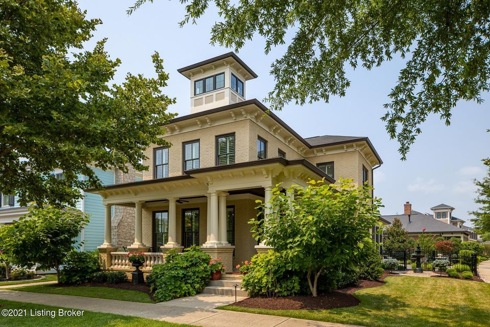 PREMIER LOCATION IN COMMUNITY, LARGE corner lot across from Heritage Park w/ Great lawn, Pavilion, Playground and Dog Park, one blk from Pool! Custom built by Stonecroft Builders. Extraordinary architecture, exquisite Millwork, brick exterior, special ceilings; coffered, dome, vaulted, wooden and Cupola. Entry Foyer! Complete renovation top...