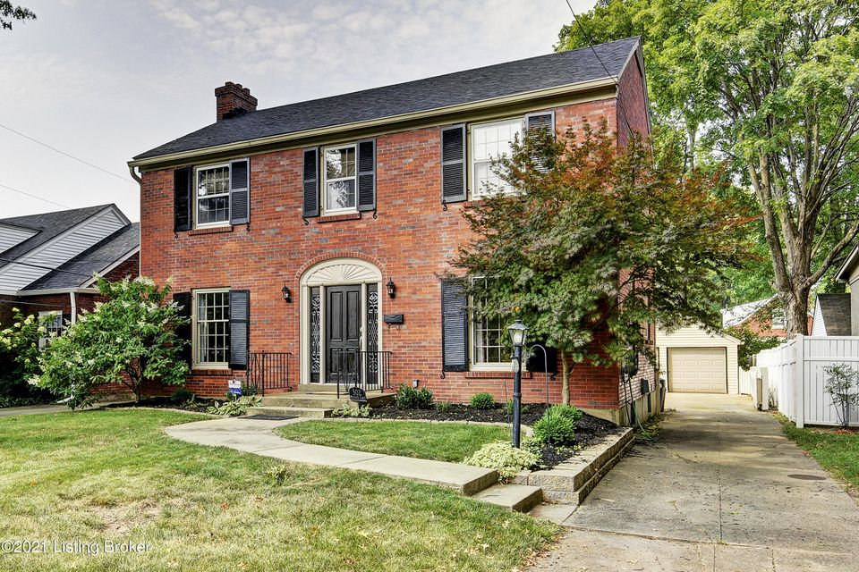 This stunning three bedroom two full & one-half bath brick two-story is truly fantastic! The seller has loved living in this wonderfully convenient and quiet location! The classic center hall with a gorgeous four panel front door and leaded glass sidelights is flanked by the bright large living room with a focal fireplace (Seller has never...