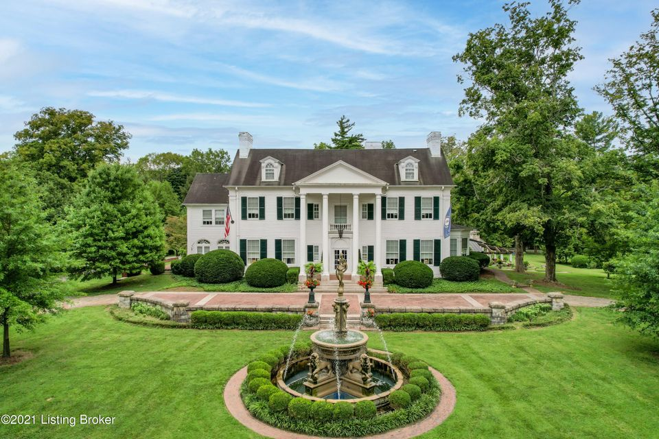The massive Doric columns, thirty-foot imported Belgium fountain and circular limestone and brick driveway create a fitting entrance to this Colonial Revival mansion. It was originally built as a Summer home in Anchorage by John Bayless in 1869 and then transformed and expanded to its' current grandeur in 1929 by the second owner, Charles...