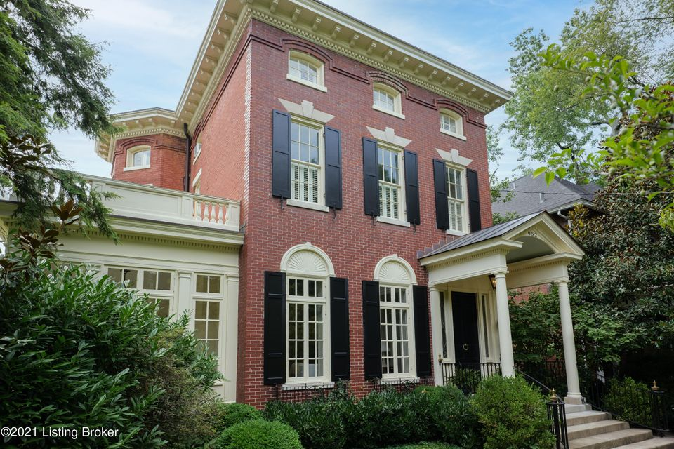 Absolutely stunning Georgian style residence originally built in 1900 and redesigned by renowned Louisville architect Frederic Linley Morgan, located in the prestigious neighborhood of Cherokee Triangle. This estate is currently used as a triplex earning as much as $4,800 per month, but could easily be converted back into a single family residence....