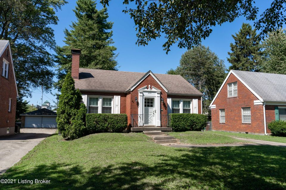 Lovely brick one story home with hardwood floors, updated bath.  Enclosed back porch with separate HVAC unit.  Large yard that backs up to Trinity High School.  Full basement unfinished.