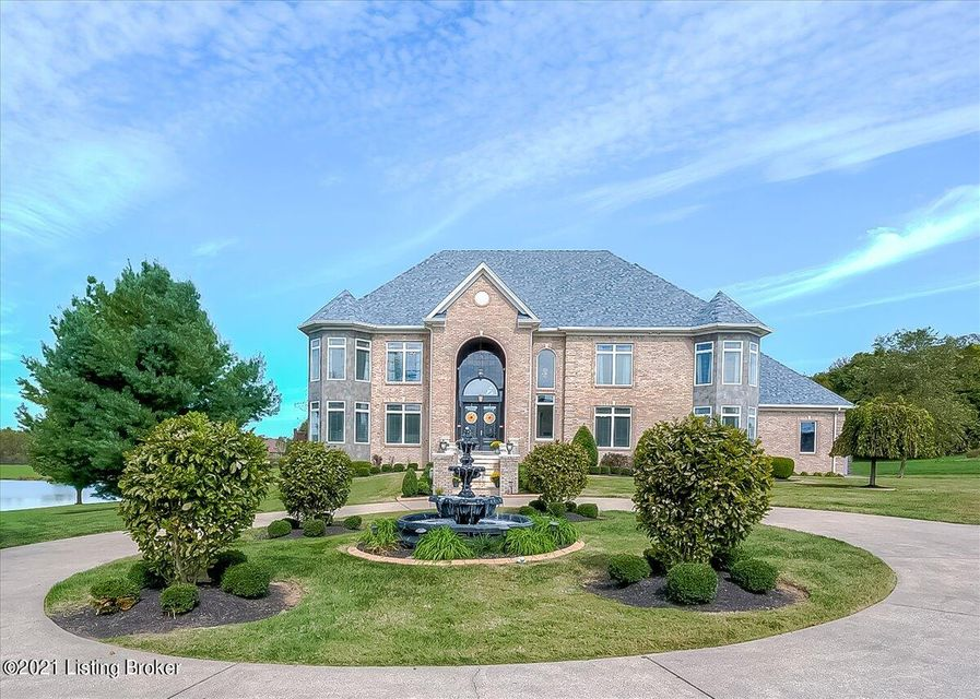 HIGHLY SOUGHT AFTER AREA! Spectacular, two story walkout on 4 1/2 acreswith over 9700 square feet of living space, 5 bedrooms, six full baths (4 of them primary baths with whirlpool tubs) and two half baths, two staircases, 2 fireplaces and two laundries. Large foyer (21x20) with 19 foot ceilings has a view of open staircase, dining room and...