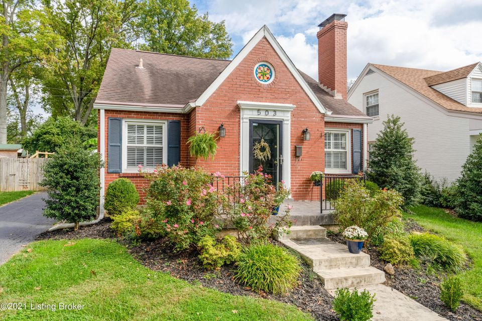 Beautiful brick Cape Cod on a picturesque street in St. Matthews-  you can walk to shops, restaurants, and enjoy all the city has to offer! This 3 bed/2 full bath home features original hardwood floors, an easy entertaining floor plan, nice backyard with one car garage, and well-appointed bedrooms. Enter into the living room flooded with natural...