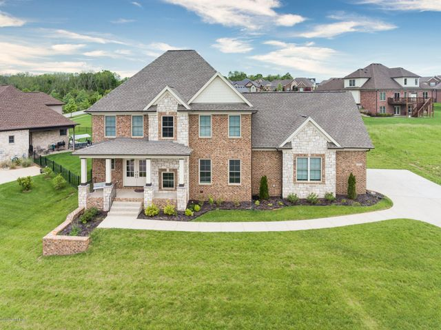 Construction on this stately two-story home was completed in 2018. Enjoy purchase confidence in Oldham County.