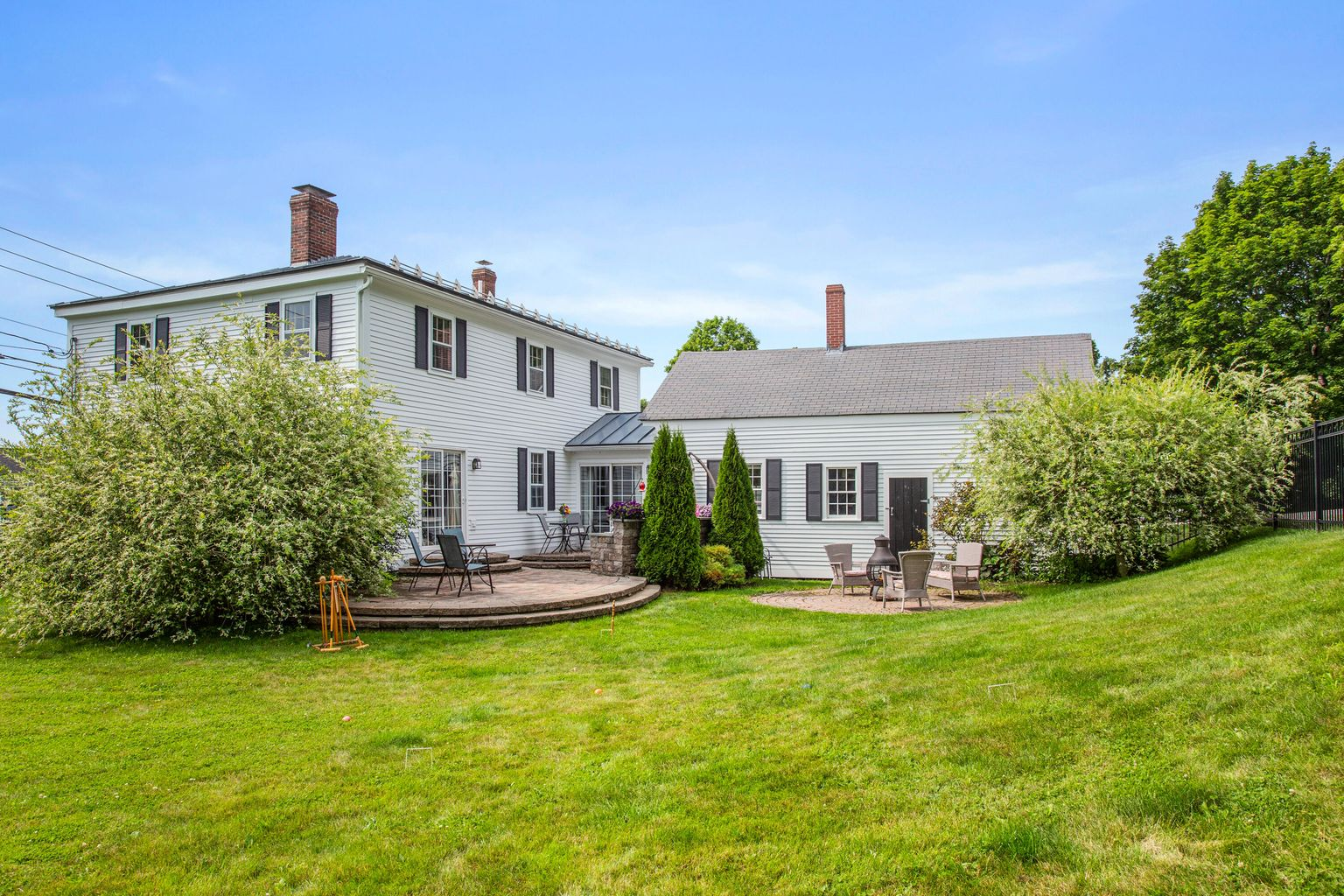 10-76BristolRd-Damariscotta-KS The backyard patio area and yard is a private and quiet place to enjoy the outdoors. Show more