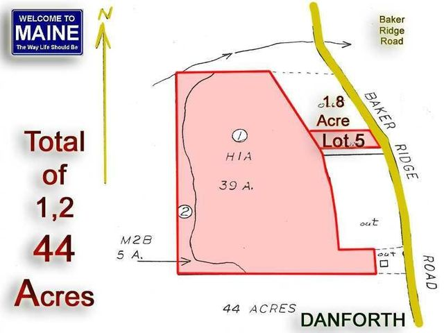 Lot 5 Baker Ridge Road, Danforth, ME 04424