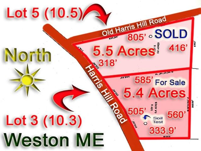 Lot 10.3 Harris Hill Road, Weston, ME 04424