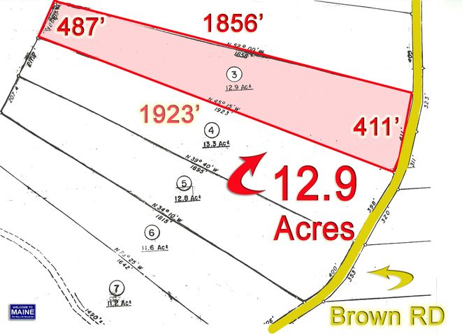 Lot 3 Brown Road, Oakfield, ME 04763