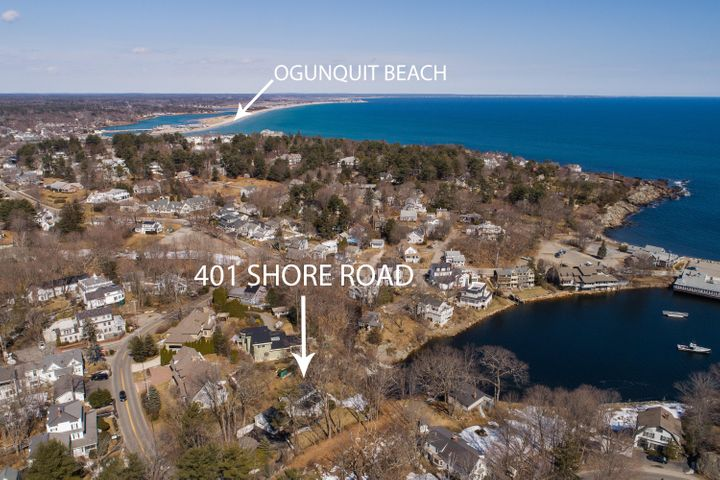 Unparalleled, jaw dropping, unobstructed views of the infinite Atlantic Ocean, Perkins Cove, and the cascading Josiah River waterfall set 401 Shore Road apart from other oceanfront properties in Ogunquit. When the original cottage was built 100+ years ago, the owners never could have imagined how in-demand this oasis would one day be. Steps to Perkins Cove shops and restaurants, the Marginal Way, beaches, and Ogunquit village, yet tucked away on just under a half acre in a private dell with 80+ feet of water frontage, there is nothing quite like this magical spot. Move right in to the year-round 1,900+ sqft 4-bed/2-bath vintage cottage with warm fireplace, exposed beams, and woodwork everywhere, or renovate the space to your liking and expand the existing footprint. You could even start fresh by retiring the existing structure and building an entirely new custom home. Whatever your plans, this absolute one-of-a-kind location is everything you've ever dreamed of (and more).