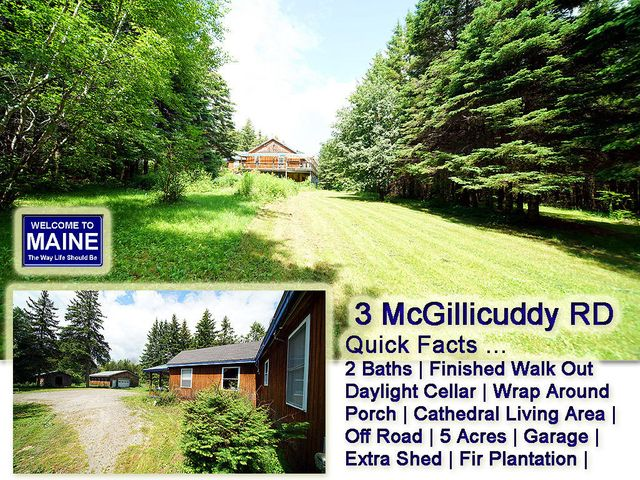 3 McGillicuddy Road, Hodgdon, ME 04730
