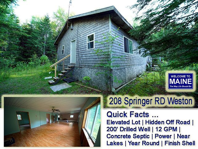 208 Springer Road Road, Weston, ME 04424