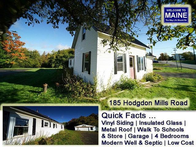 185 Hodgdon Mills Road, Hodgdon, ME 04730