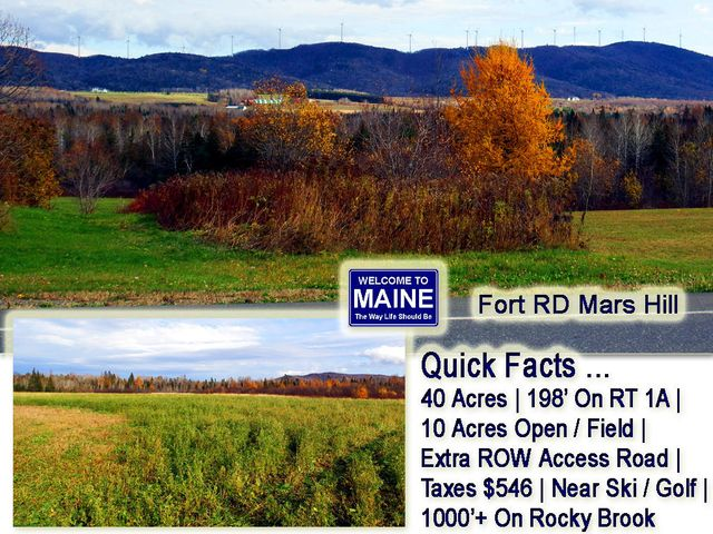 Lot 23B Fort Road  RT 1A Road, Mars Hill, ME 04758