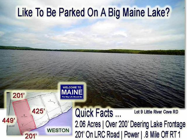 Lot 9 Little River Cove Road, Weston, ME 04424