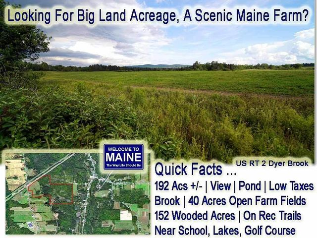 Lot 14 US RT 2, Dyer Brook, ME 04780