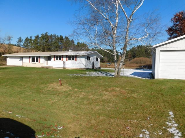 3 bedroom, 2 bath ranch style home with attached garage on approximately .50 acres. A 30X22 Pole shed/garage with cement floor an added bonus!Tax parcel 032003850000 and partial of 032003840000(pole shed/garage)Exact acreage will be determined by Survey map prior to closing.