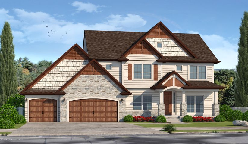 6072 Sleepy Hollow Ln - Front elevation rendering - 1